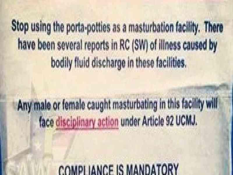 Los militares de EEUU tienen prohibido masturbarse en Afganistán