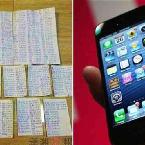 Roba un iPhone y envía a su dueño una lista manuscrita de sus mil contactos de la agenda para que no los pierda