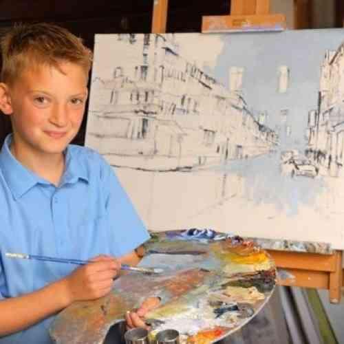 El pintor millonario de nueve años de edad
