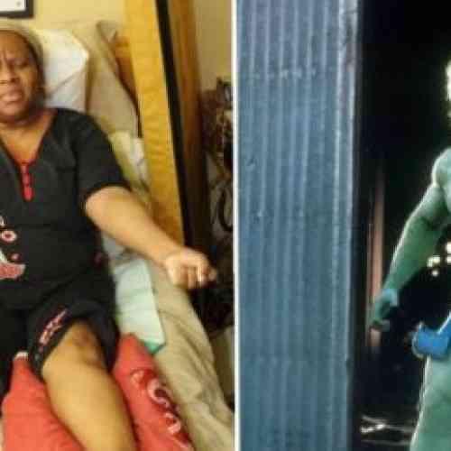 La mujer que se convierte como Hulk
