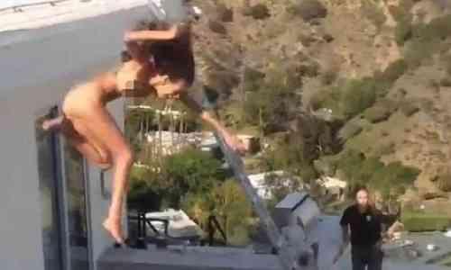 El 'playboy' Dan Bilzerian lanza a una estrella porno desde el tejado de su casa